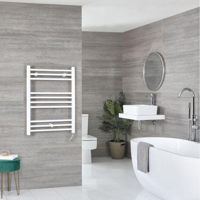 Scaldasalviette Elettrico Piatto 200W - Termoarredo Bagno Bianco - 800 x 600mm - Ive