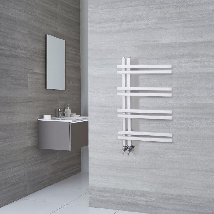Radiatore Scaldasalviette di Design - Alluminio - Bianco - 800mm x 500mm - 351 Watt - Tika