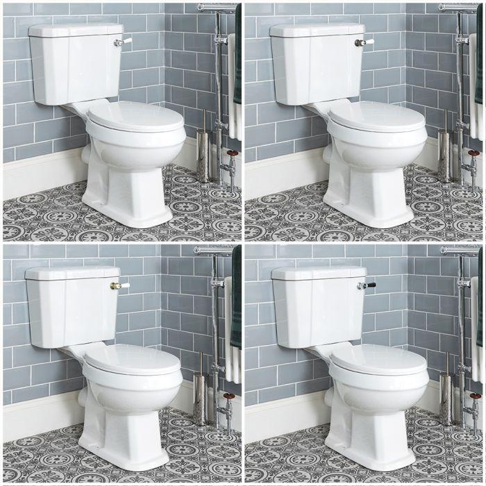 Sanitario WC Monoblocco Con Cassetta e con Copri Vaso a Chiusura Rallentata - Varie Leve di Scarico - Richmond