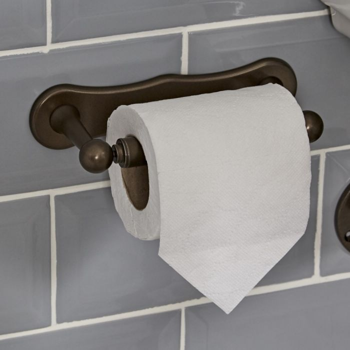 Porta Rotolo Carta Igienica Effetto Bronzo lucidato ad Olio - Augusta