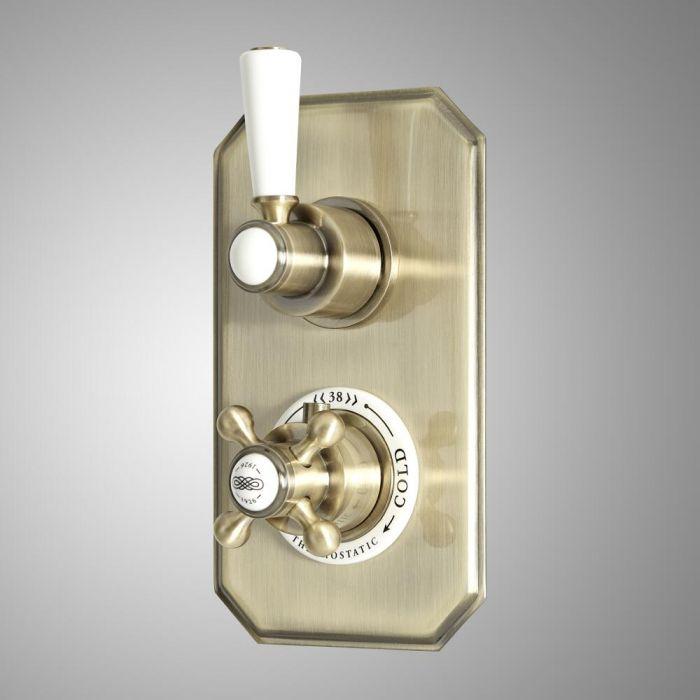 Miscelatore Doccia Tradizionale da Incasso con Deviatore - Oro Spazzolato - Elizabeth