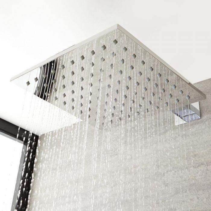 Soffione Fisso Quadrato in Acciaio Inossidabile 400 x 400mm