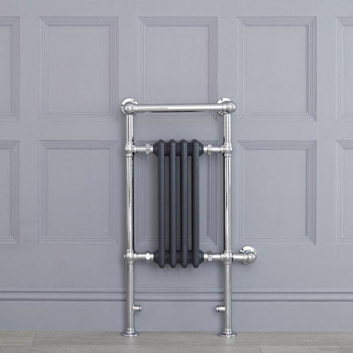 Scaldasalviette Elettrico Tradizionale - Termoarredo Bagno 400W - Colore Antracite - 930 x 450mm - Elizabeth