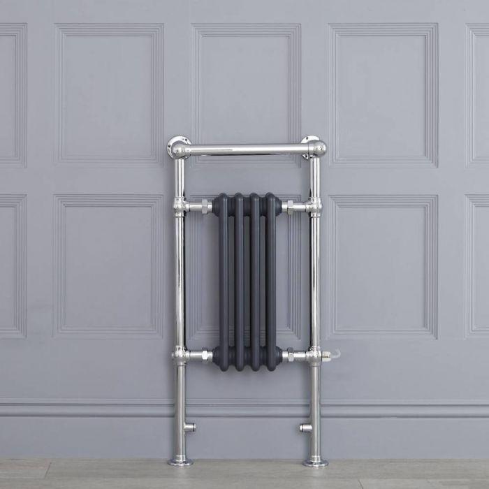 Scaldasalviette Elettrico Tradizionale - Termoarredo Bagno 400W - Antracite - 930 x 450mm - Elizabeth