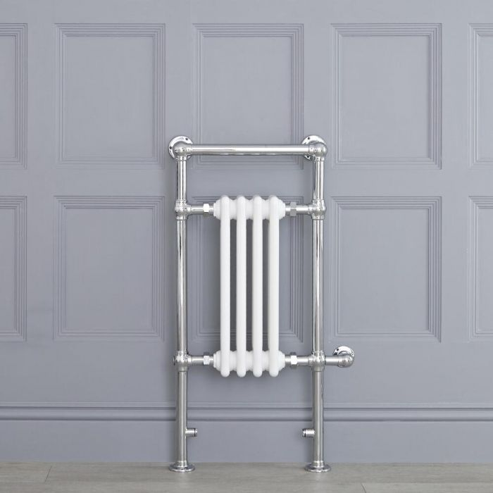 Radiatore Scaldasalviette - Elettrico - Tradizionale Bianco - 930mm x 452mm  - Elizabeth