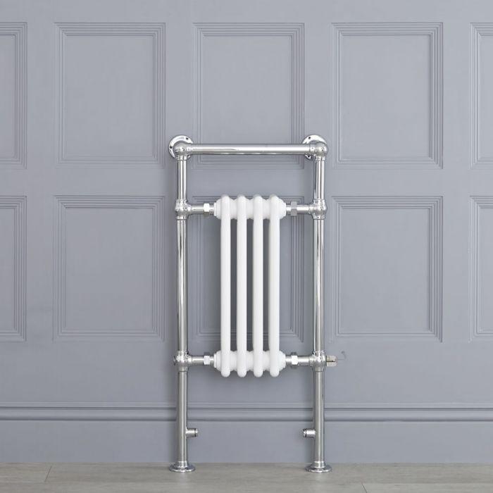 Scaldasalviette Elettrico Tradizionale - Termoarredo Bagno 400W - Colore Bianco - 930 x 452mm - Elizabeth