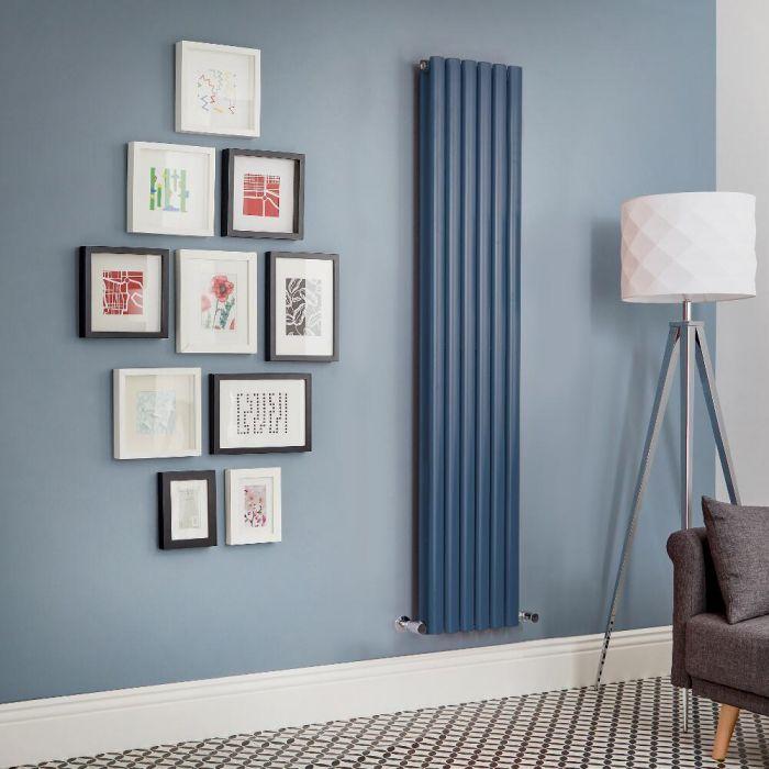 Radiatore di Design Verticale Doppio  - Blu - Revive - Disponibile in Diverse Misure