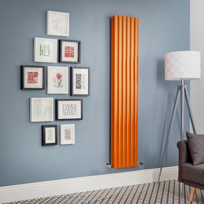 Radiatore di Design Verticale Doppio  - Arancione  - Revive - Disponibile in Diverse Misure
