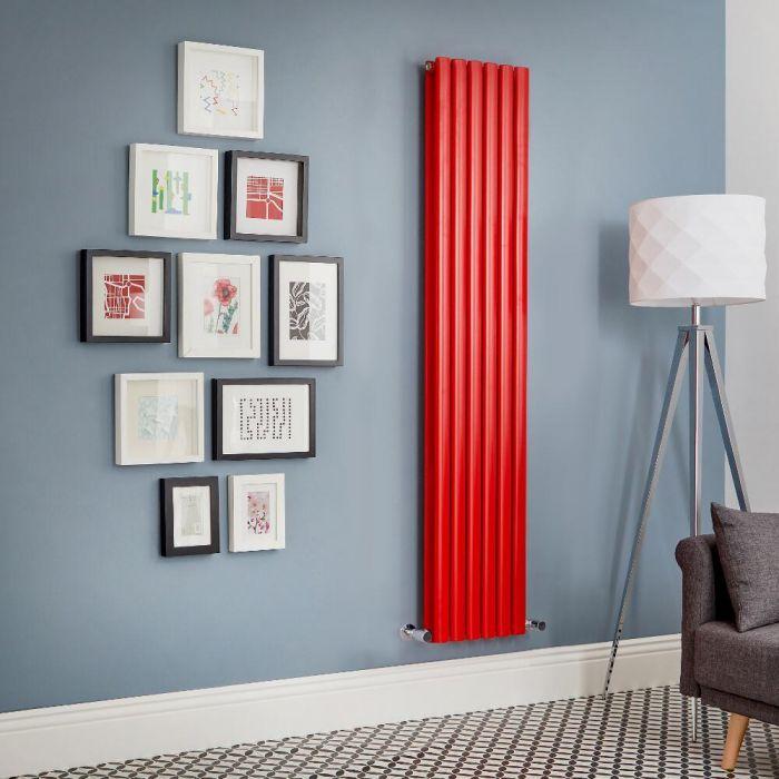 Radiatore di Design Verticale Doppio  - Rosso  - Revive - Disponibile in Diverse Misure