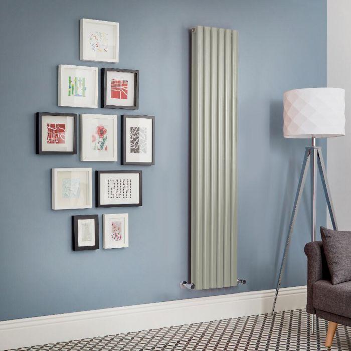 Radiatore di Design Verticale Doppio - Verde Salvia - Revive - Disponibile in Diverse Misure