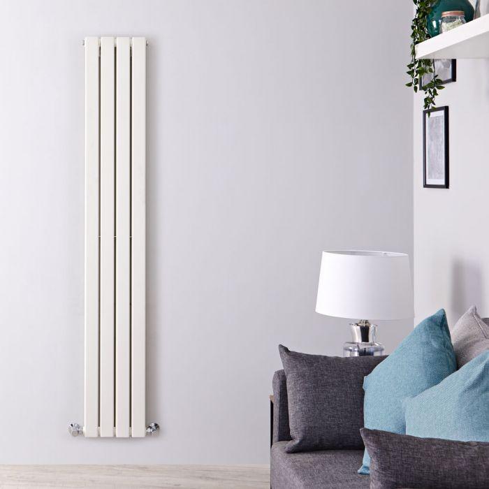 Radiatore di Design Verticale Doppio - Bianco - 1780mm x 280mm x 60mm - 990 Watt - Delta