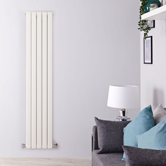 Radiatore di Design Verticale  - Bianco - 1780mm x 350mm x 47mm - 823 Watt - Delta