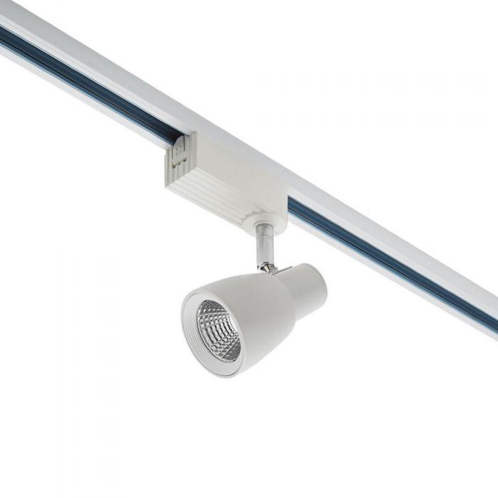 Biard Faretto LED 10W Dimmerabile Bianco per Binari a Singolo Circuito