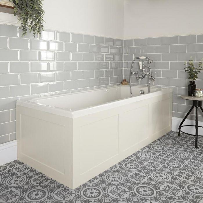 Vasca da Bagno Tradizionale – Bianca – 1700mm x 750mm - Richmond - Pannelli in Bianco Antico