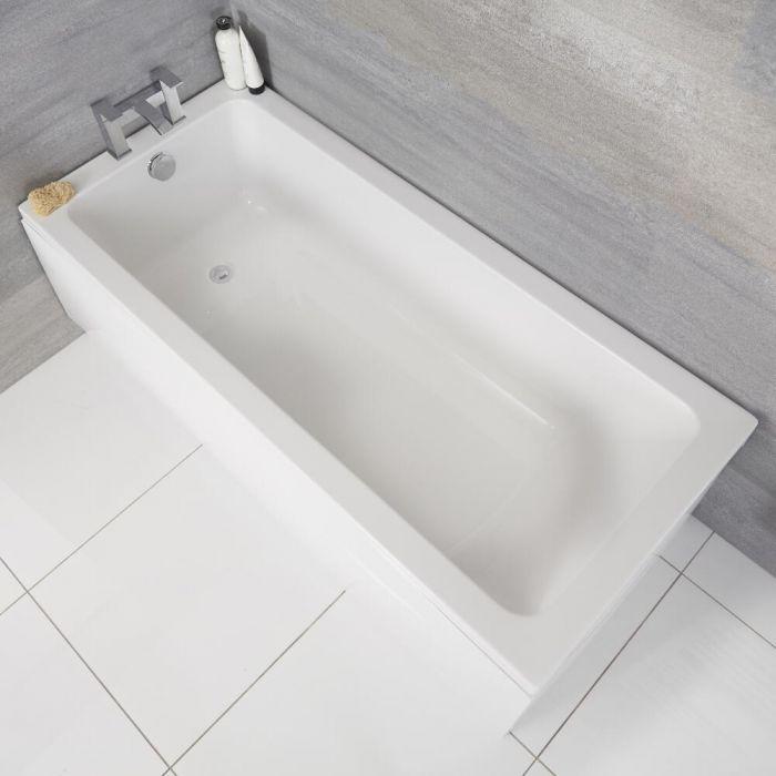 Vasca da Bagno Rettangolare in Acrilico 1700x750mm senza Pannello Vasca