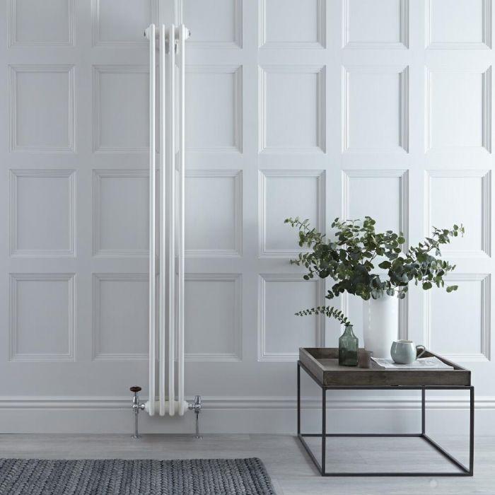 Radiatore di Design Verticale a 3 Colonne Tradizionale - Bianco - 1800mm x 200mm x 100mm - 779 Watt - Regent
