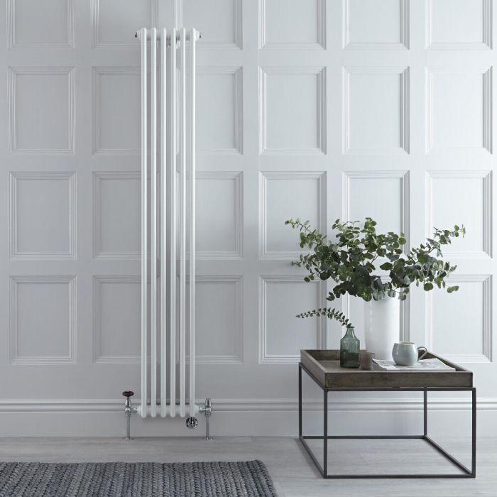 Radiatore Tradizionale Verticale Triplo Misto Regent - Bianco - 1800mm x 290mm - Disponibile con Opzione WiFi