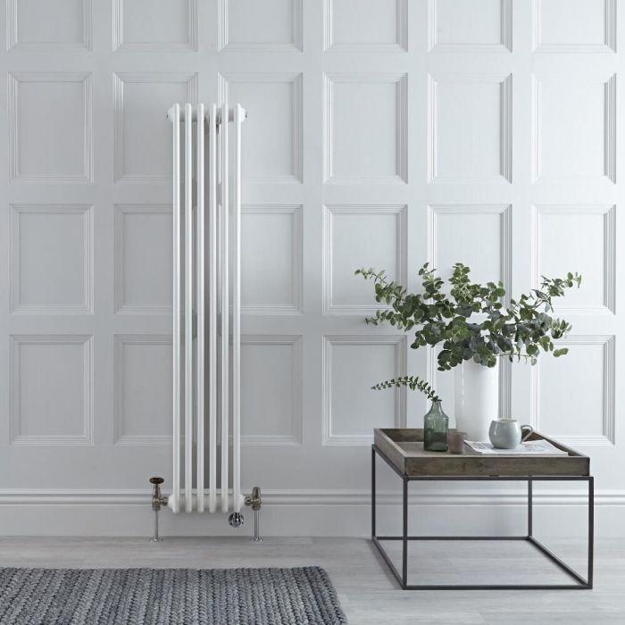 Radiatore Tradizionale Misto Verticale Regent Doppio - Bianco - 1500mm x 290mm - Disponibile con Opzione WiFi