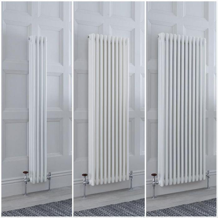 Radiatore Tradizionale Triplo Verticale Bianco Windsor - Disponibile in Diverse Misure e Piedini