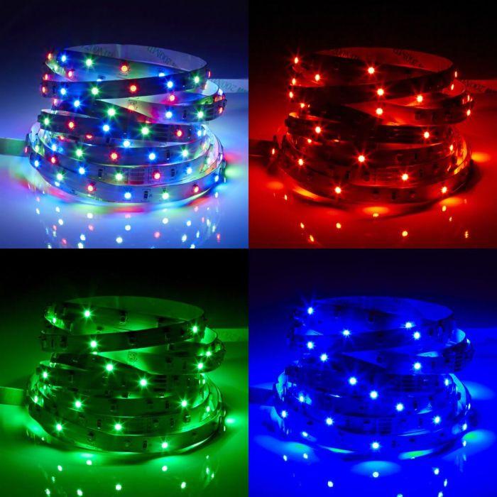 Biard Strisce LED con 300 LED 5metri Multicolore IP20 RGB Rosso, Verde e Blu - 3528