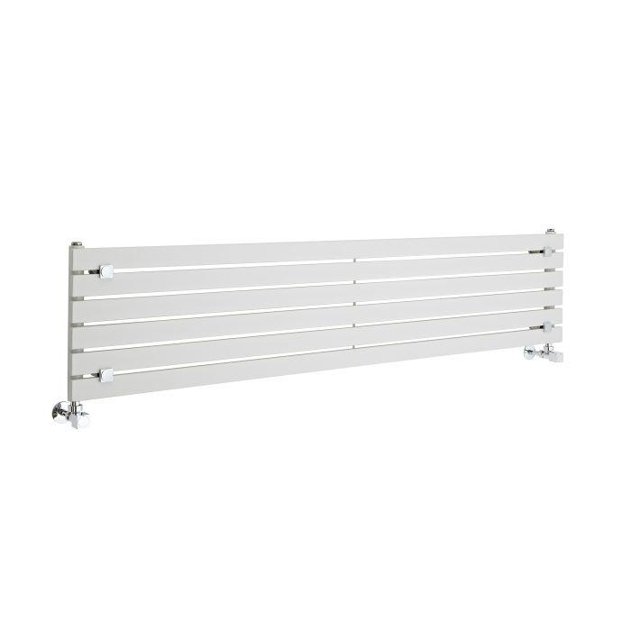 Radiatore di Design Orizzontale - Bianco - 354mm x 1600mm x 54mm - 773 Watt - Sloane