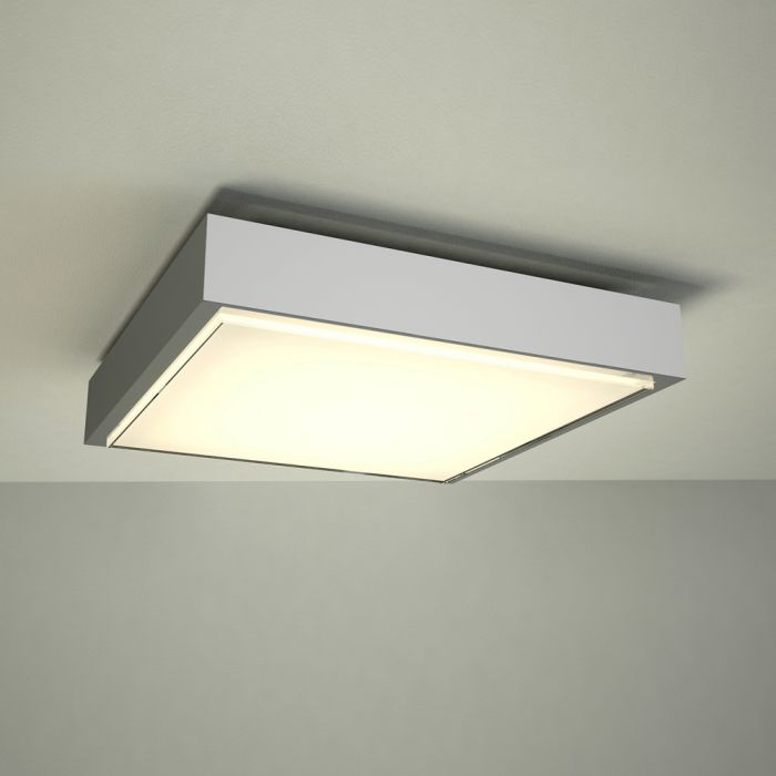 Plafoniera LED da Soffitto Quadrata per Stanza da Bagno Ø290 - Zell