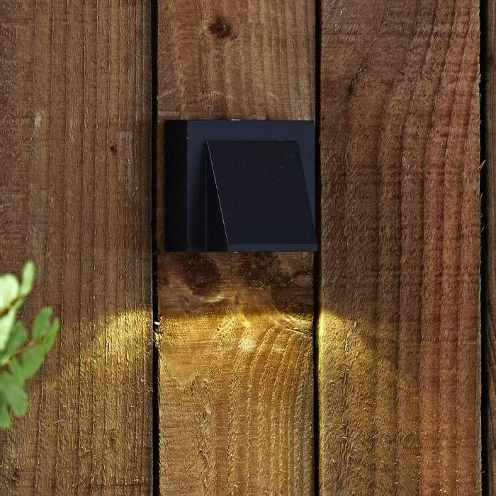 Biard Applique Murale da Esterno Nero Ascendente o Discendente LED 6W - Architect