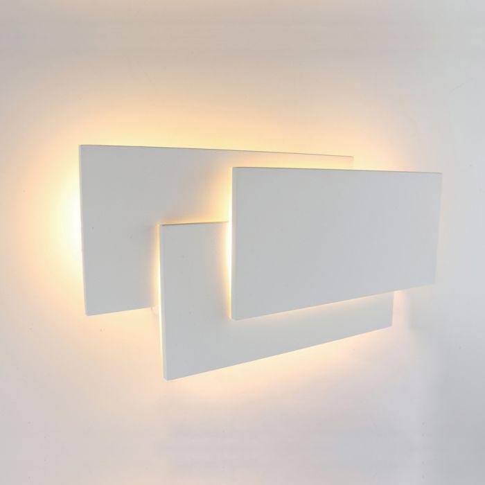 Biard Applique Murale LED Retroilluminata Quadrata per Interni Bianca - Piran