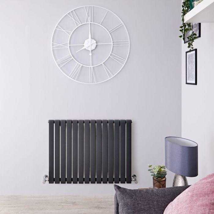 Radiatore di Design Orizzontale  - Antracite - 635mm x 834mm x 54mm - 842 Watt - Sloane