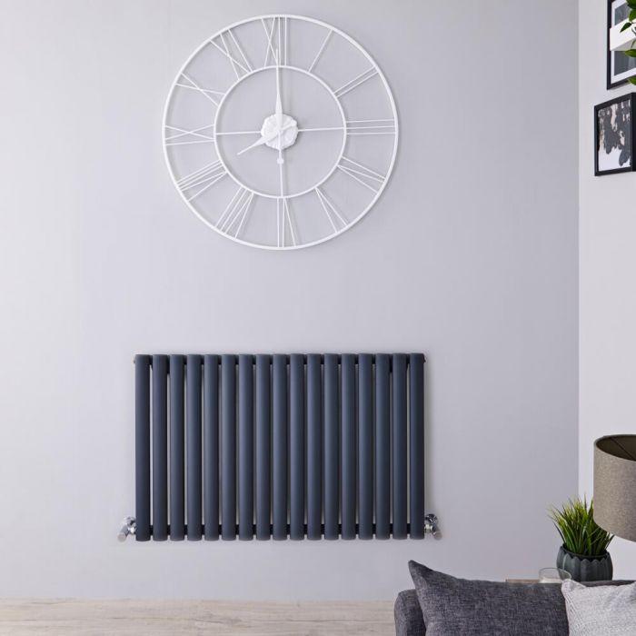 Radiatore di Design Orizzontale  - Antracite - 635mm x 1000mm x 55mm - 1015 Watt - Revive