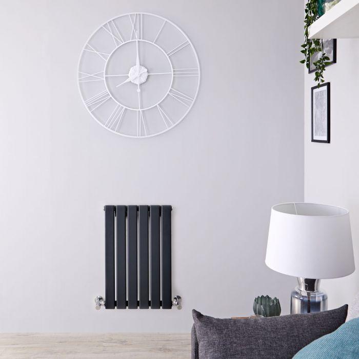 Radiatore di Design Orizzontale  - Antracite - 635mm x 420mm x 46mm - 376 Watt - Delta