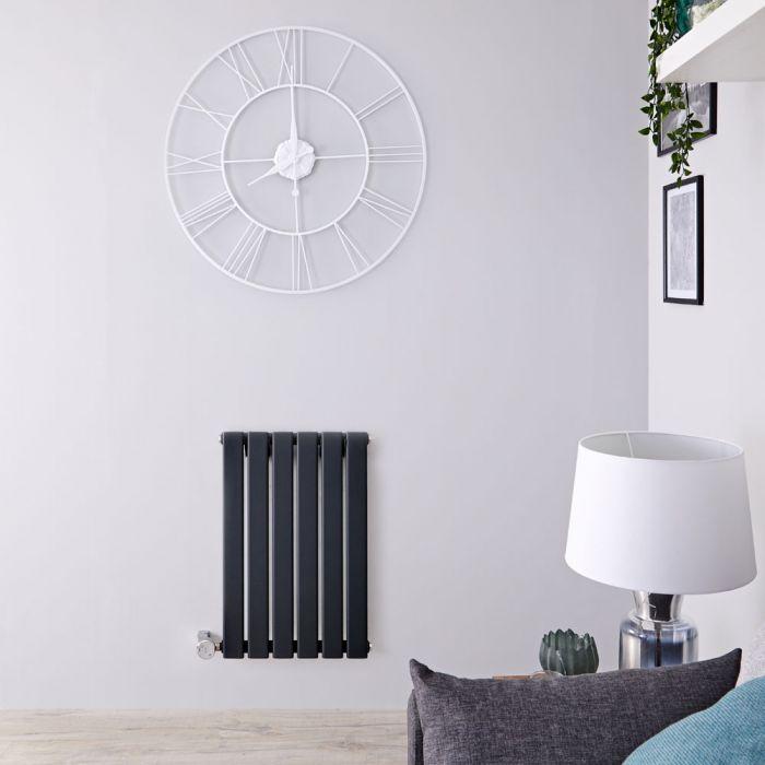 Radiatore di Design Elettrico Orizzontale - Antracite - 635mm x 420mm x 46mm  - Elemento Termostatico  400W  - Delta
