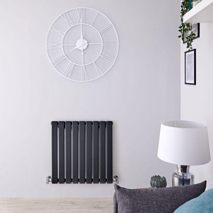 Radiatore di Design Orizzontale - Antracite - 635mm x 630mm x 46mm - 563 Watt - Delta