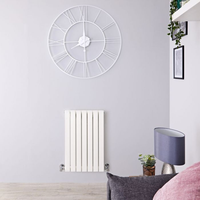 Radiatore di Design Orizzontale  - Bianco - 635mm x 420mm x 54mm - 421 Watt - Sloane