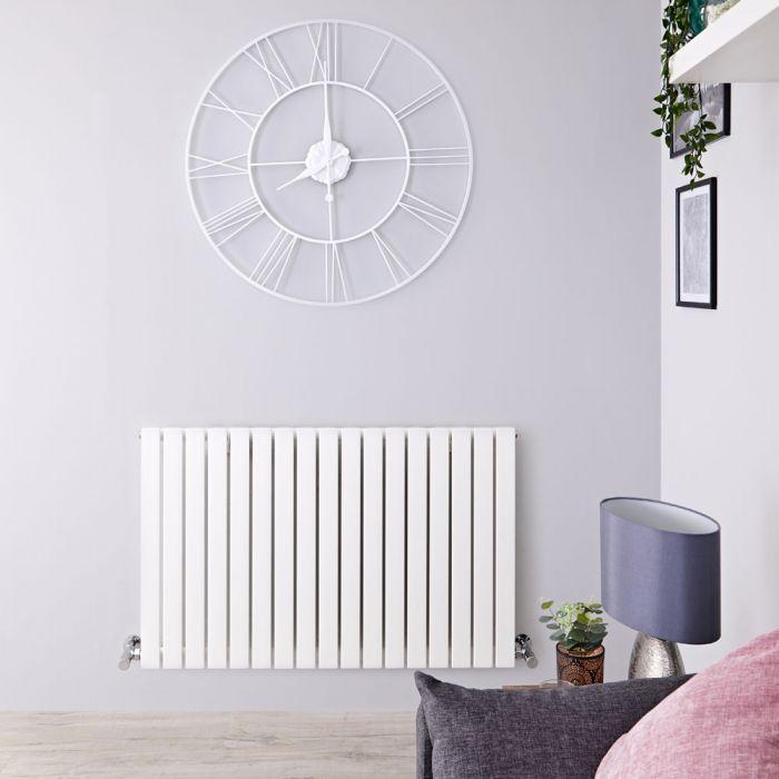 Radiatore di Design Orizzontale - Bianco - 635mm x 1000mm x 54mm - 1022 Watt - Sloane