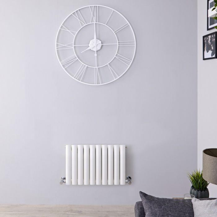 Radiatore di Design Orizzontale - Bianco - 400mm x 590mm x 56mm - 453 Watt - Revive