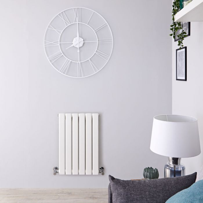 Radiatore di Design Orizzontale  - Bianco - 635mm x 420mm x 46mm - 376 Watt - Delta