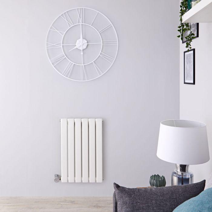 Radiatore di Design Elettrico Orizzontale - Bianco - 635mm x 420mm x 46mm  - Elemento Termostatico  400W  - Delta
