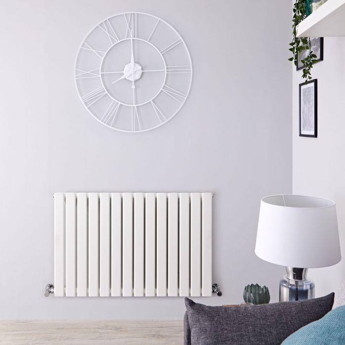 Radiatore di Design Orizzontale - Bianco - 635mm x 980mm x 46mm - 876 Watt - Delta