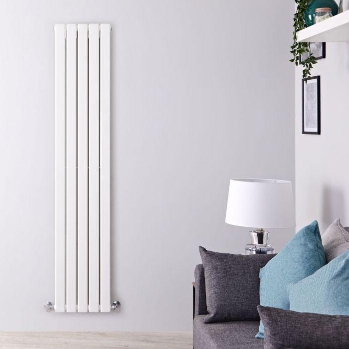 Radiatore di Design Verticale Doppio - Bianco - 1600mm x 350mm x 60mm - 1102 Watt - Delta