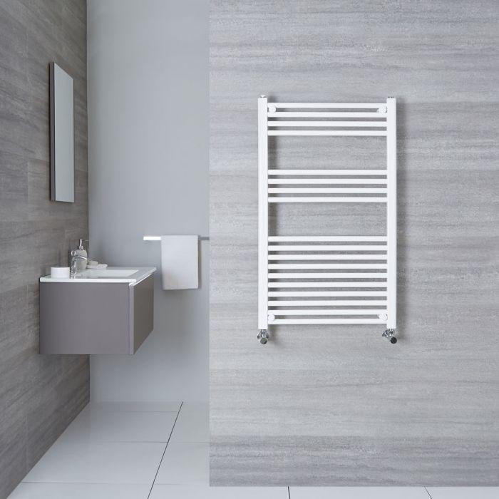 Radiatore Scaldasalviette Piatto - Bianco - 1000mm x 600mm x 30mm - 605 Watt - Etna