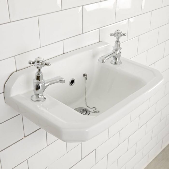 Lavabo Bagno Sospeso Retro 51x30 cm - Richmond