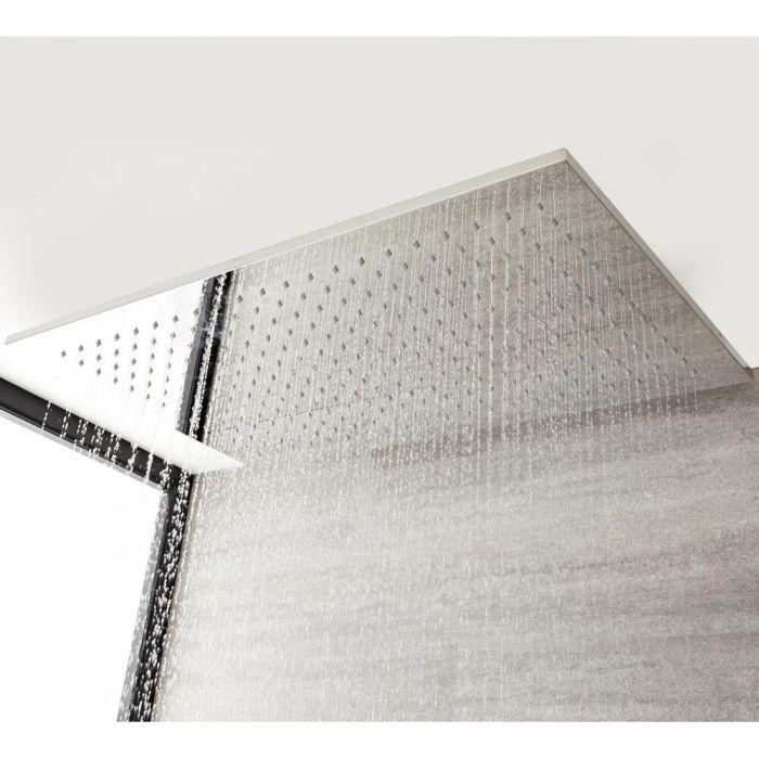 Soffione Doccia Rettangolare Ultrasottile 800x500x15mmmm Installazione a Controsoffitto