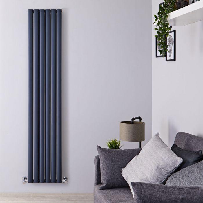 Radiatore di Design Verticale Doppio - Antracite - 1800mm x 350mm x 76mm - 1502 Watt - Revive Air