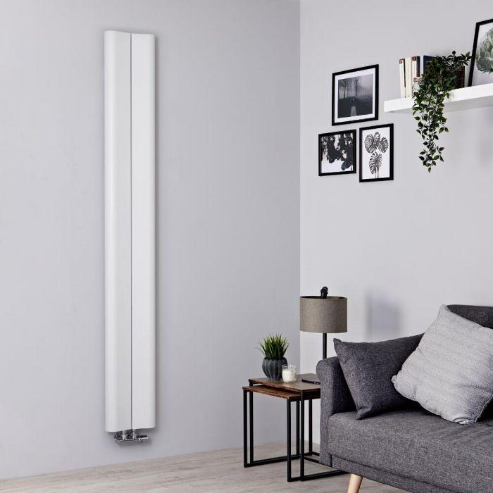 Radiatore di Design Verticale - Alluminio - Bianco - 1800mm x 245mm - 652 Watt - Aloa