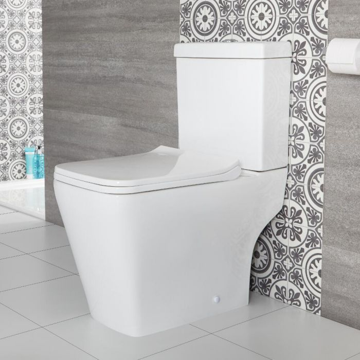 Sanitario Filo Parete Appoggio con Sedile WC con Chiusura Rallentata - Sandford