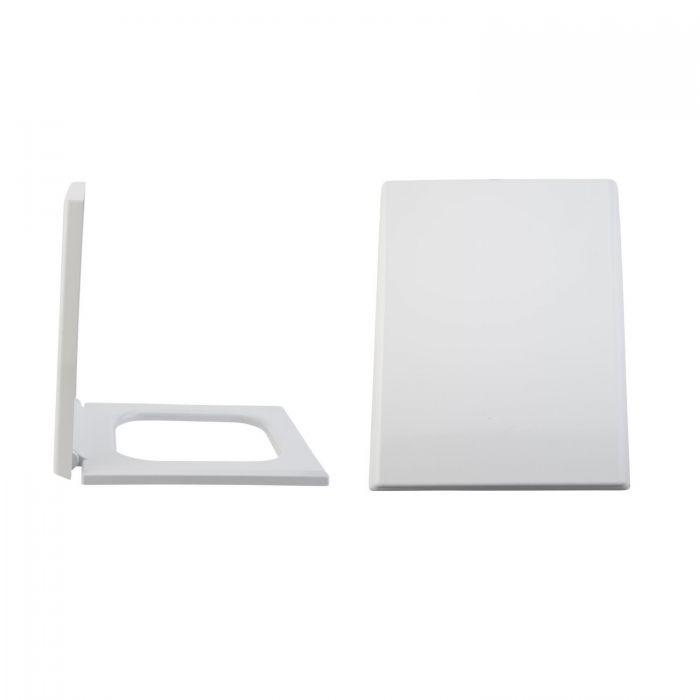 Sedile WC con Chiusura Soft Close, Sgancio Rapido e Fissaggio Superiore - Haldon