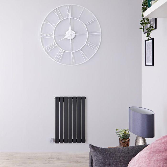 Radiatore di Design Elettrico Orizzontale - Antracite - 635mm x 420mm x 54mm  - Elemento Termostatico  400W  - Sloane