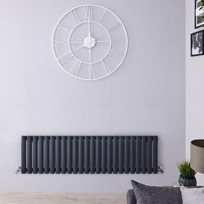 Radiatore di Design Orizzontale  - Antracite - 400mm x 1411mm x 56mm - 975 Watt – Revive