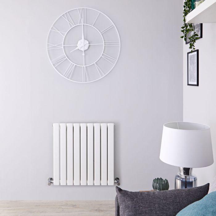 Radiatore di Design Orizzontale - Bianco - 635mm x 630mm x 46mm - 563 Watt - Delta